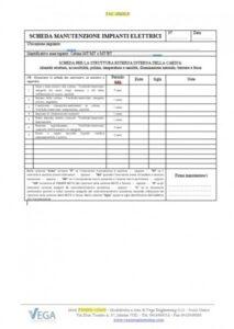 Scheda di verifica per la struttura esterna/interna della cabina elettrica MT/MT o MT/BT