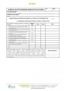 Scheda per la manutenzione del gruppo di continuità UPS