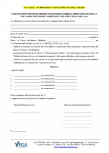 Comunicazione dei nominativi dei soggetti dell'impresa affidataria incaricati per l'assolvimento dei compiti dell'art. 97 del D.Lgs. 81/08