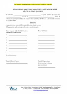 Designazione Addetti Incaricati dell'attuazione delle Misure di Primo Soccorso