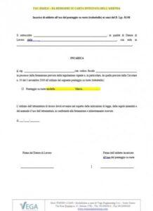 Incarico di addetto all'uso del ponteggio su ruote (trabattello) ai sensi del D. Lgs. 81/08