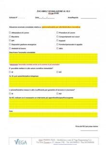 Modulo per SGS ISO 45001: Segnalazioni al RLS