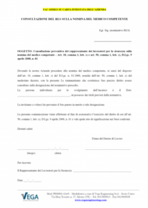 Consultazione del Rappresentante dei Lavoratori per la Sicurezza (RLS) sulla nomina del Medico Competente