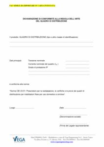 Quadri Elettrici: Dichiarazione di Conformità alla regola dell'arte secondo la norma CEI 23-51