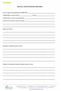 Modulo di registrazione Near Miss