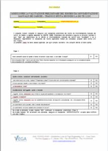 Modulo per la valutazione preliminare del rischio da Movimentazione Manuale dei Carichi - Traino e Spinta  ISO/TR 12295 e la ISO 11228-2