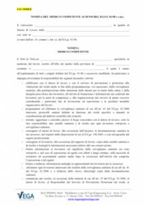 Nomina del Medico Competente (D.Lgs. 81/08)