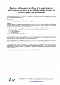 D.M. 37/08: Esempio di istruzioni per l'uso e la manutenzione dell'impianto elettrico di un edificio adibito a luogo di lavoro