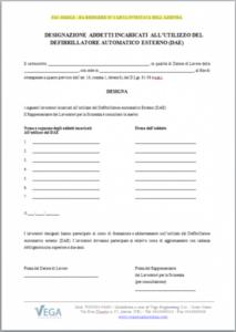 Modulo di Designazione per Addetti all'Utilizzo DAE
