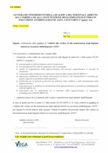 Conferimento della qualifica del personale addetto a verifica e manutenzione degli impianti elettrici in esecuzione antideflagrante ATEX