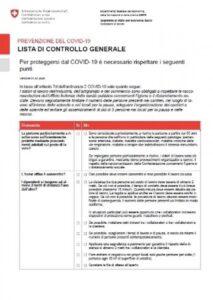 COVID-19: Check listi di controllo industria e artigianato SUVA