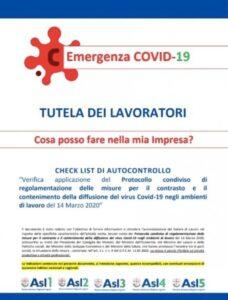 COVID-19: Check listi di Controllo a cura della Regione Liguria